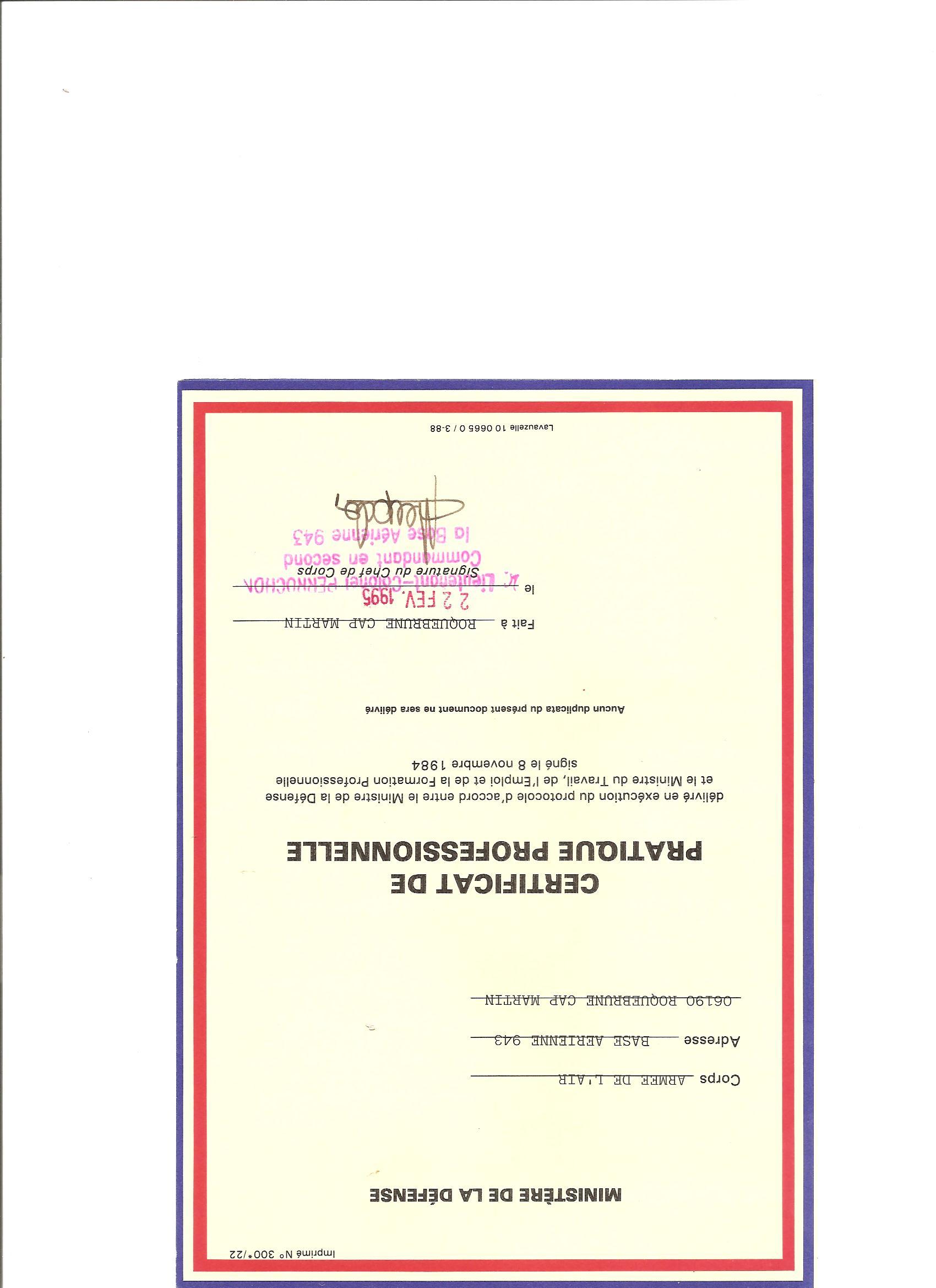 dipl u00f4mes  attestations diverses  coupures presses