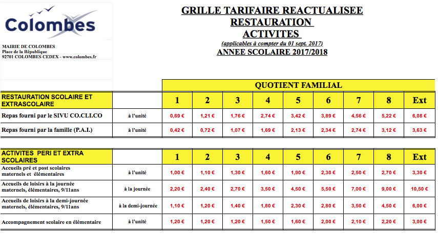 Rythme scolaire colombes - Buffalo grill la garenne colombes ...