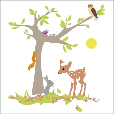 Concours 6 des 6 ans lili pouce dress me and my kids for Stickers arbre chambre bebe